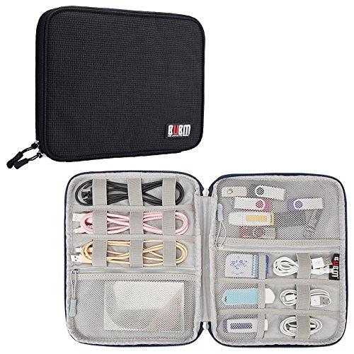 Elektronica Accessoires Travel Organizer Bag, BUBM Universele gadgets Opbergtas voor USB Kabels Koorden harde schijf Telefoonoplader Zwart