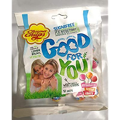 chupa chups sugar free lollipops pack of 12 ( 72g ) Chupa chups Sugar Free Lollipops Pack of 12 ( 72g ) 51xlclCSkmL
