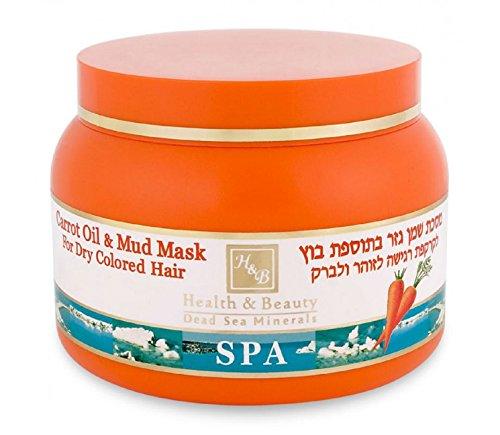 HB Mer morte - Masque capillaire thérapeutique de boue et à l'huile de carotte - 250ml