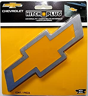Plasticolor Chevy Bowtie Style Brushed Aluminum Hitch Plug