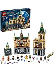 LEGO 76389 Harry Potter Hogwarts hemligheternas kammare modulär slott leksak med The Great Hall, 20-årsjubileum set med samlarobjekt gyllene minimifigur