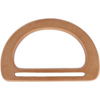 Simdoc 1pc D Shaped Resin Bag Handle Purse Frame DIY Handbag Handle for Purse Making Shopping Bag Tote