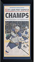 St Louis Blues 2019 Stanley Cup Hockey Champions Post Dispatch CHAMPS Original Front Page Framed Newspaper
