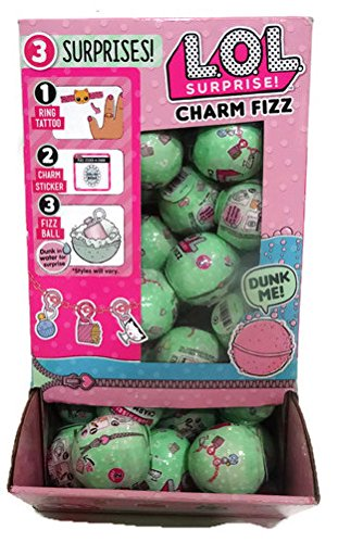 Set Of 40 Lol Surprise Series 2 Charm Fizz Balls With Display Case