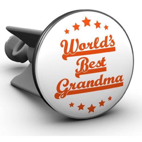 Plopp Waschbeckenstöpsel Worlds Best Grandma, Stöpsel, Excenter Stopfen, für Waschbecken, Waschtisch, Abfluss, 594