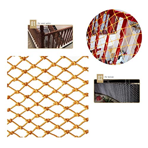 Best Bargain Yellow Anti-Fall Net, Balcony Stair Railing Children Crib Safety Protective Net, Kinder...