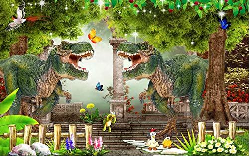 FAWFAW Puzles Adulto De 1500 Piezas, Dinosaurio, Bosque Verde
