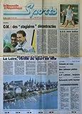 NOUVELLE REPUBLIQUE LOISIRS (LA) [No 158] du 27/05/1991 - FOOT / OM / MOZER ET PAPIN - ROLAND-GARROS - FORGET...