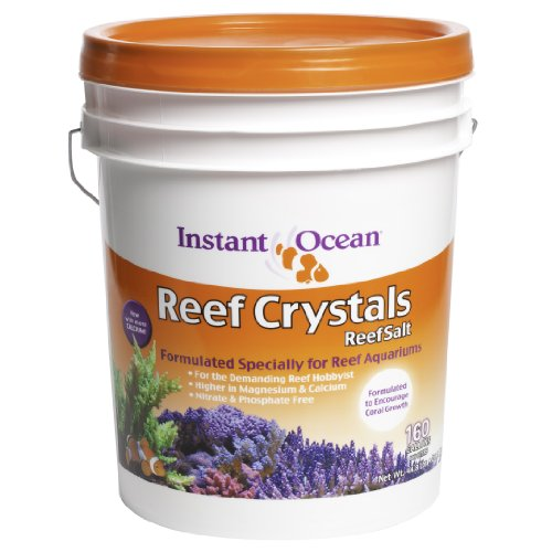 Instant Ocean Reef Crystals Reef Salt For 160 Gallons, Enriched Formulation For aquariums