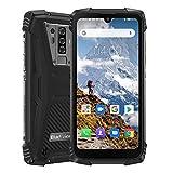 Blackview BV6900 Télephone Portable Incassable Débloqués 4G, Helio P25 Octa-Core 4Go+ 64Go, IP68 Smartphone Étanche Antichoc Android 9.0, Dual SIM, Batterie 5580 mAh, NFC, Noir