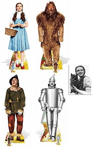 Fan Pack - Wizard of OZ Set of 4 Lifesize and Mini Cardboard Cutout Collection Standee / Standup - Includes 8x10 Star Photo
