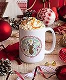 N\A Feliz Navidad, decoración de Rudolph, Prancer, Taza de Navidad, Taza Divertida de Navidad, Taza