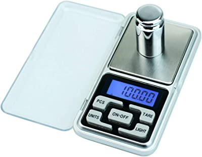 Digital Milligram Scale,MeiLiio High Accuracy Mini Electronic Digital Pocket Scale with LCD Backlight Jewelry Diamond Gold Coin Calibration Weighing Balance Portable 100G//0.01G
