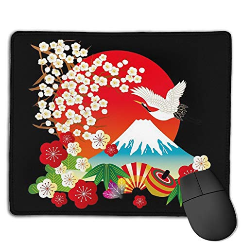 Japanese Kimono 1 Mouse Pad ,HD Bright Colors Gaming Mouse Pad Custom Design Mat