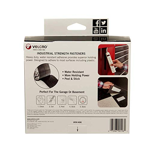 VELCRO Brand Industrial Strength Fasteners | Stick-On Adhesive | Professional Grade Heavy Duty Strength Holds up to 10 lbs on Smooth Surfaces | Indoor Outdoor Use | 15ft x 2in Tape, White Photo #8