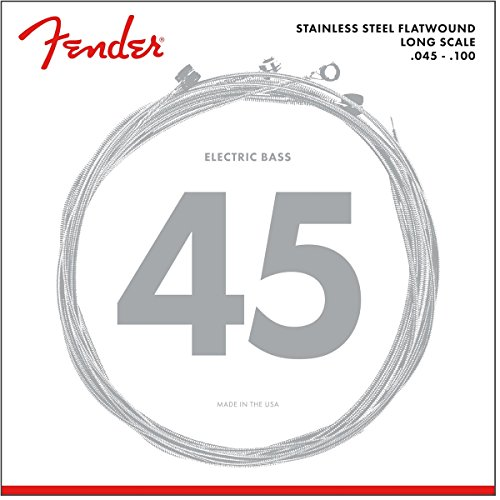 Fender Flatwound String Set For Electric Bass-9050L (045/100) - Stainless...