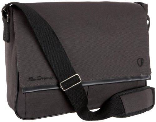 Ben Sherman Accessories Canvas Messenger Bag,Grey,one size