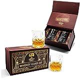 Crystal Whiskey Glasses Set - Liquor Rocks Glasses, Gifts For Men, Bourbon Glasses,...