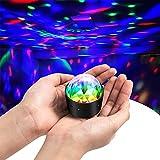 Discokugel Discolicht Partylicht Kinderdisco Partybeleuchtung- Cobiz Party Lichter Mit 3W RGB 3 Led, MINI Tragbar Wiederaufladbar Musikgesteuert Partykugel Kleine Geschenke Für Kinder