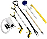 RMS 7-Piece Hip Knee Replacement Kit with Leg Lifter, 19 and 32 inch Rotating Reacher Grab...