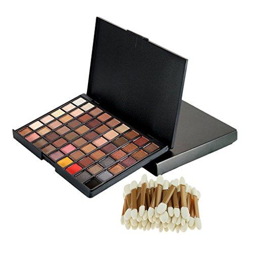 Sharplace Kit de 54 Couleurs Palette de Fard à Paupières Matte Brosse Eponge Accessoire Maquillage