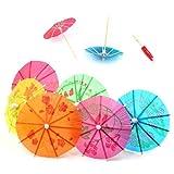 Sonline 24 Paraguas Sombrillas Mezcladas de Papel para Coctel Bebidas