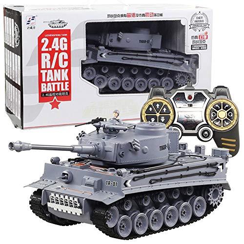 TBFEI 1:18 RC Alemán Tiger Army Tank Juguetes Eléctricos A Distancia Del...