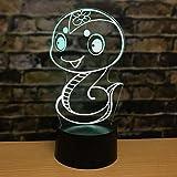 WangZJ 7 farbwechsel 3d Nachtlicht 12 Tierkreis Dekoration Acryl Kreative Tischlampe Nacht Kreative Geschenk Usb Led Nachtlicht/y