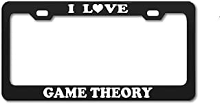 Product Express I Love Game Theory Mathematics Studying Black Engraving License Plate Frame Tag Border