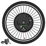Imortor 3.0 36V 350W Kit de conversión de bicicleta eléctrica, todo en uno Kit de conversión de bicicleta eléctrica de rueda delantera, con batería / USB ( Color : Disc wire control , Size : 29 inch )