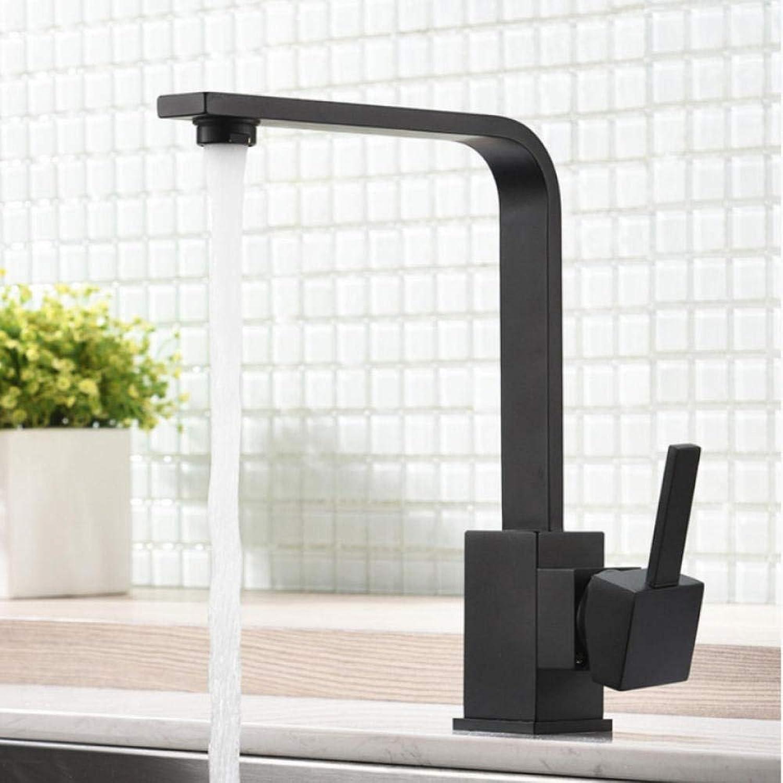 Gorheh Küchenarmaturen Messing Küchenspüle Wasserhahn 360 Drehen Schwenkbaren Wasserhahn Einhebelmischer Schwarz