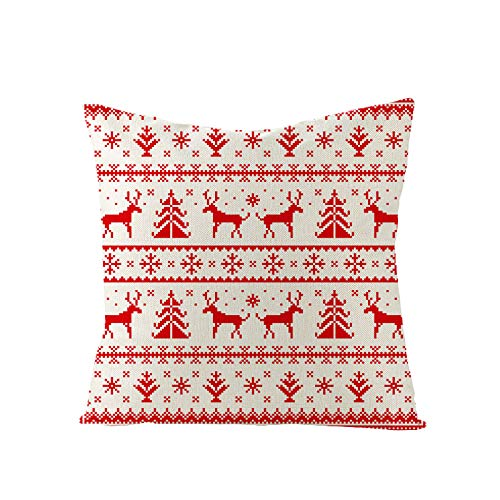 Qishi Square Pillow Case Cushion Cover Christmas Green Series Living Room Sofa Pillow Case 45 * 45CM