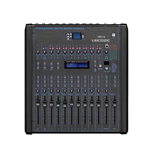 Mezclador Digital De 12 Canales DGI12 Montaje En Rack Consola De Sonido Mesa De Mezcla Grabación Equipo De DJ Musical Profesional