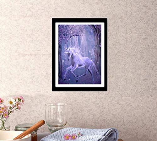 XLUIN Muurstickers & muurschilderingen 5D Diamant Schilderij Diy Eenhoorn Borduurwerk, Volledige Diamant Strass Home Art Schilderij Behang