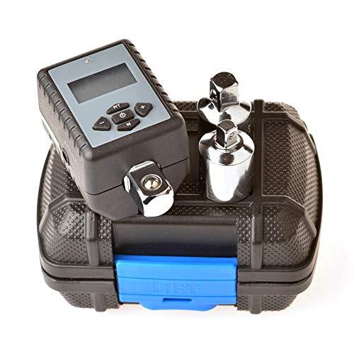 Gyfhmy Professionele instelbare digitale koppeladapter met akoestisch alarm, nauwkeurigheidsgrens van +/-2%, werkt op batterijen, 2-200 Nm, perfect voor fiets- en autoreparatie