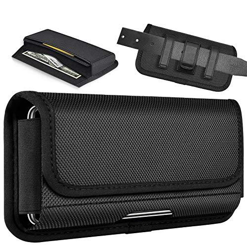ykooe Custodia Orizzontale con Clip per iPhone SE 2020, Cintura Fondina con Slot Carte Magnetica Fondina Custodia per iPhone 11,PRO,X,XR,XS,8,7,6 Plus (L)
