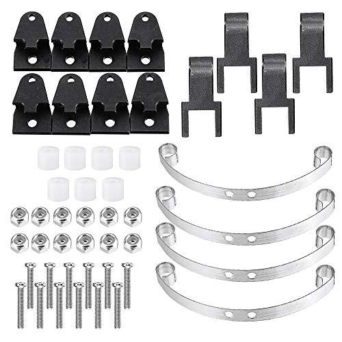 N\A RC Car Parts B1 B16 B24 B36 RC Autoteile Schwarz 1/16 Metallohrring und Stoßdämpfer-Brett für RC...