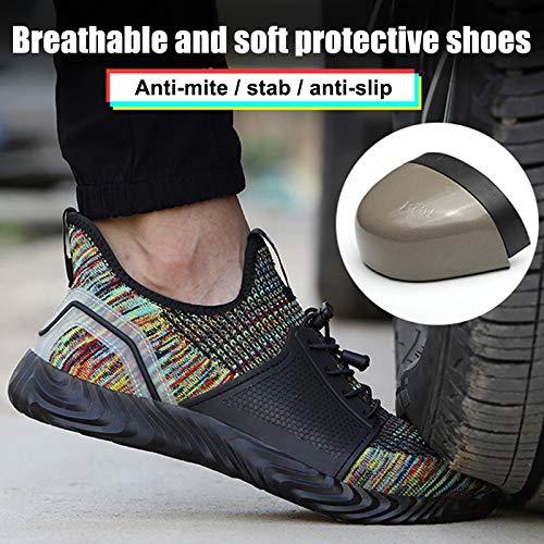 Keepbest mannen veilige schoenen anti-smashing anti-piercing anti-slip ademende Sneakers werkschoenen