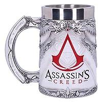 Chope sous licence officielle Assassins Creed. Design basé sur l'emblématique insigne Maxim et Assassin. Moulé en résine de qualité supérieure. Peint à la main. Dimensions : 17,5 x 11,5 x 16,5 cm