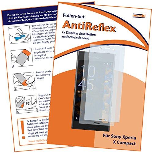 mumbi Schutzfolie kompatibel mit Sony Xperia X Compact Folie matt, Bildschirmschutzfolie (2X)