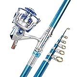 NANSHENG Juego Completo de cañas de Pescar, Juego Completo de cañas de Pescar, Todas Las Ruedas de Metal con cañas de Tiro largas súper duras para Principiantes y Pescadores de pesca2.7