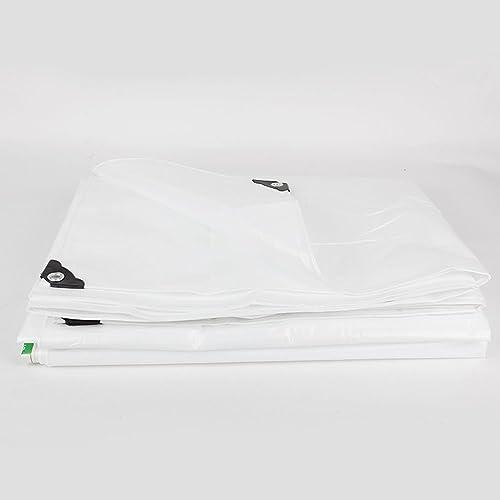 Tarpaulin HUO Bache Multi-usages, Bache Imperméable à L'épreuve De Larme pour Le Blanc De Couverture De Feuille Au Sol (Couleur   Blanc, Taille   7  8m)