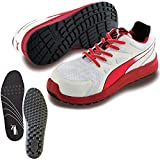 [プーマ] 安全靴 リレー レッド ロー 25.0cm 中敷き インソール付セット 64.338.0&20.450.0