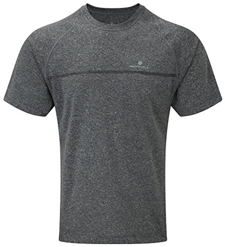 Ronhill RH-002379 T-Shirt de Course Homme, Gris/Marl, FR : S (Taille Fabricant : S)