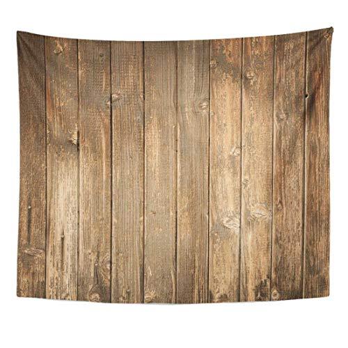 Clásicos Tapiz de madera marrón rústico de madera dañada vieja mesa colgante de pared decoración interior casa hecha en suave