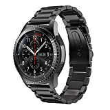 Syxinn Compatible con Correa de Reloj Gear S3 Frontier/Classic/Galaxy Watch 46mm Banda Pulseras de Repuesto, 22mm Acero Inoxidable Metal Pulsera para Moto 360 2nd Gen 46mm/Huawei Watch GT/GT 2 46mm