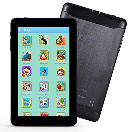 XGODY 9 Inch Kids Tablet Android Tablet Quad Core 1GB RAM 16GB ROM with WiFi IPS HD Display Dual Camera Shockproof Silicon Case for Kids(Dark Blue)