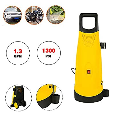 KKZZZ 1800W,Pressure Washer,1300 PSI, 1.3 GPM, Electric Jet Power Washer with Spray Gun,Adjustable Nozzle,Detergent Bottle,360L/H - 90Bar,for home and car by Kkzzz