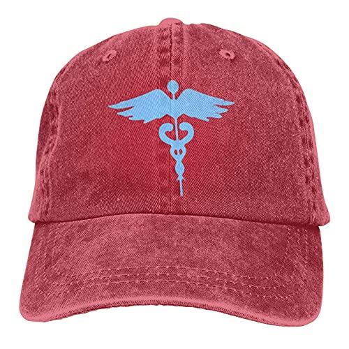 N  A I Cant Stay at Home Im A Healthcare Worker Casquette Sombrero ajustable Unisex Gorra de béisbol Trucker Moda Sombrero para Adultos Azul
