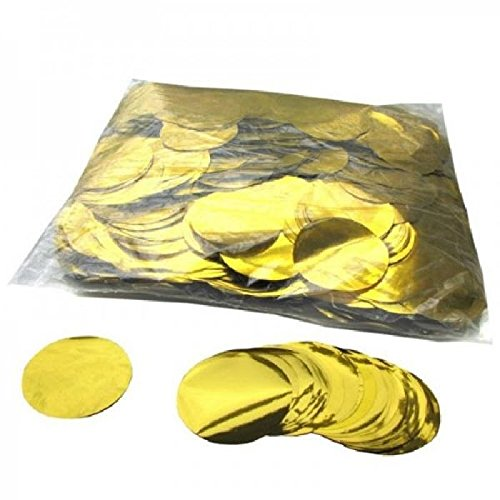 Mondial-fete - 1 kilo confettis métalliques ronds or 5 cm